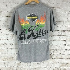Harley-Davidson T-Shirt Size M Gray S/S St. Kitts